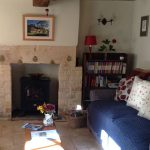 Cosy living room at Twine Cottage