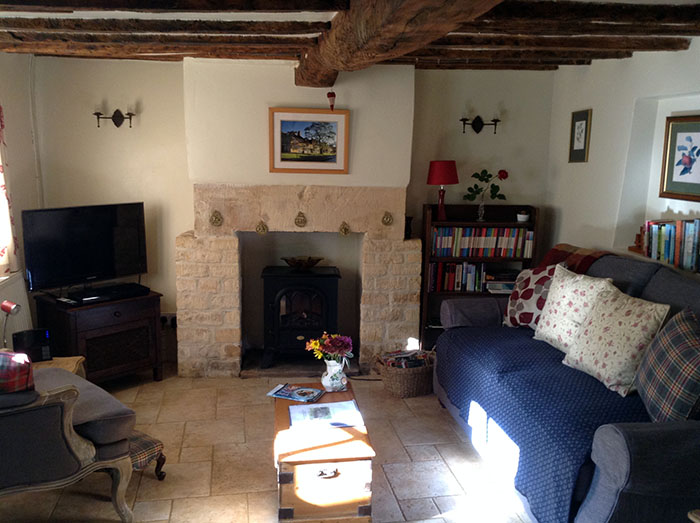 Cosy living room, Twine Cottage, Cotswolds